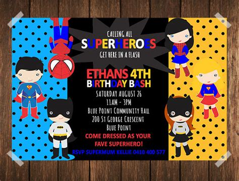 superhero birthday invitations gangcraft net