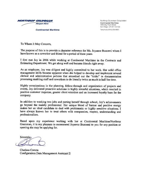 reference letter employee google reference