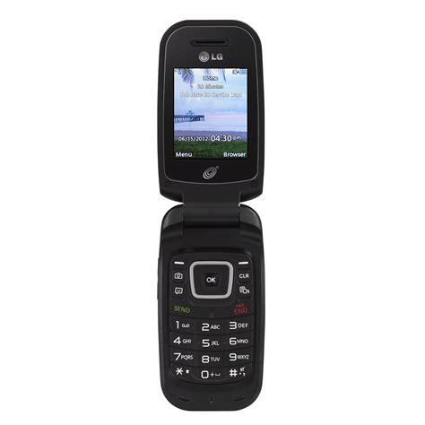 tracfone lg flip cell phone tracfone tflg440gdmp4 lg 440g gsm pre paid mobile phone