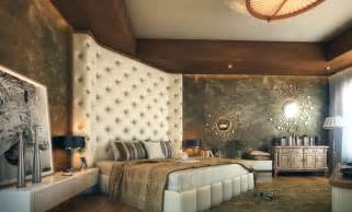 Bedroom Headboard Ideas Oversized Cushioned Headboard Luxurious Bedroom Interior Design Ideas