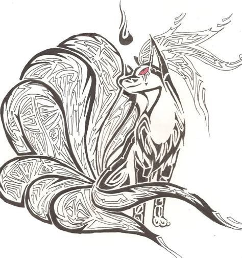 nine tails tattoo by heliophobiant on deviantart