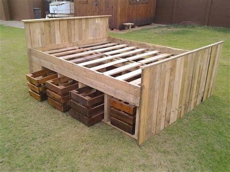 make a wooden bed frame how to make wooden pallet bed frame