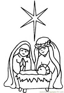 free printable coloring page religious christmas coloring