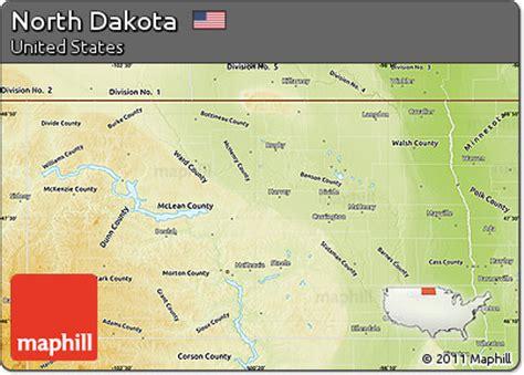 physical map of dakota free physical map of dakota