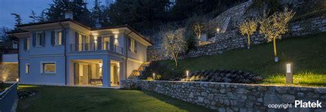 illuminazione viali villa panoramica a brescia italia platek