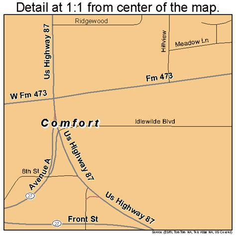 comfort tx county comfort texas street map 4816228
