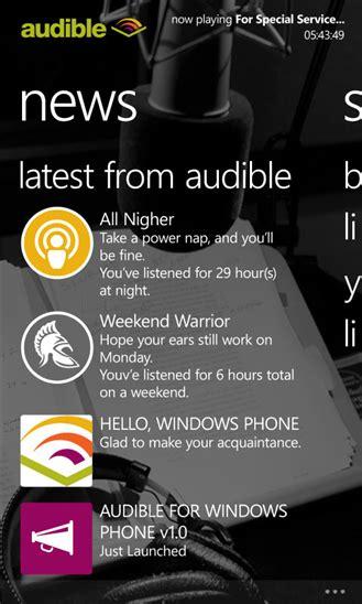 audible mobile store audible xap windows phone free app feirox