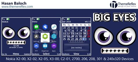 themes reflex nokia c2 02 big eyes theme for nokia x2 00 x2 02 x2 05 x3 00 c2 01