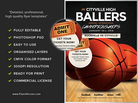 basketball templates basketball flyer template flyerheroes