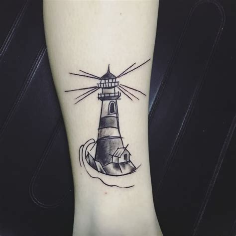 small lighthouse tattoo lighthouse by matt fischer wilmington nc