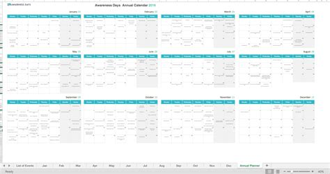 Calendar 2018 National Days Sync National Awareness Days Events Calendar