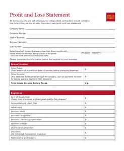 profit and loss statement template profit loss statement template 9 free pdf excel