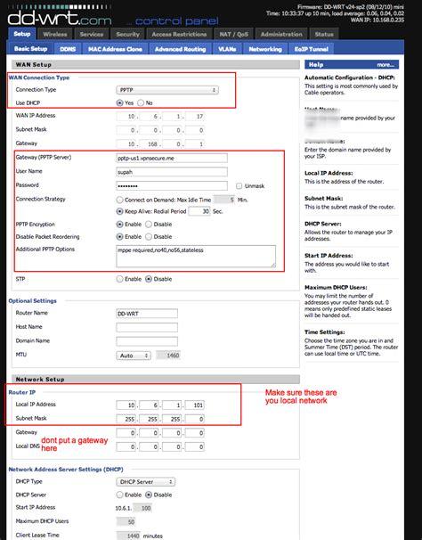 dd wrt dd wrt pptp client wan settings getting started dd wrt