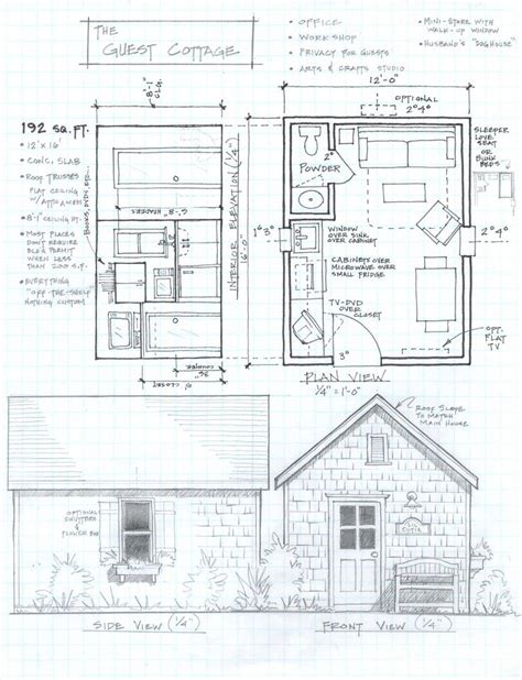 sle house plans 192 sq ft studio cottage this would a really
