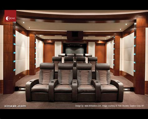 media room and cinema seats by cineak modern