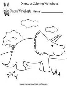 free preschool dinosaur coloring worksheet
