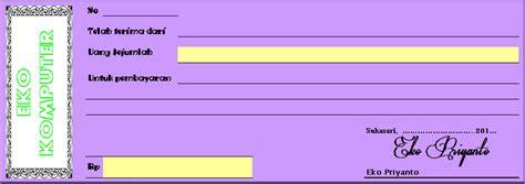 Contoh Kwitansi Pembayaran Excel by Kwitansi Format Excel