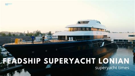 yacht lonian new 87m feadship superyacht lonian launch youtube