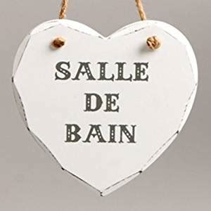 vintage french country heart shabby chic salle de bain