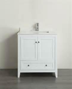 White Bathroom Vanity With Quartz Top Classic 30 Inch White Finish Bathroom Vanity With White