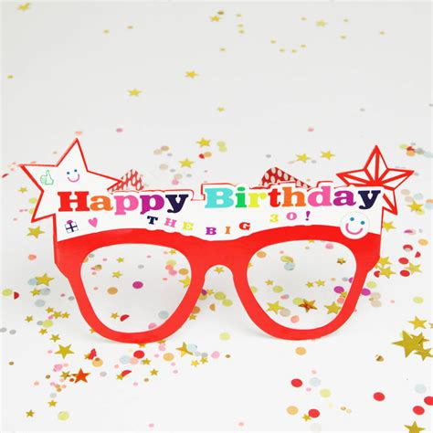happy birthday glass customisable happy birthday glasses by postbox party