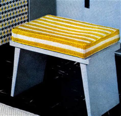 foam rubber sts bathroom bench cover pattern crochet patterns