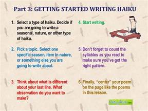 how to write a haiku ppt
