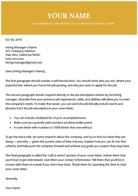 modern cover letter templates resume