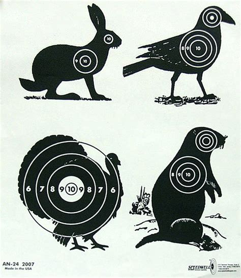 printable animal bb gun targets mrs easton 187 paper