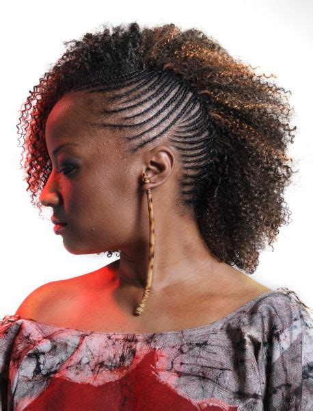 One Braid Black Hairstyles by One Side Cornrows Braided Hairstyle Updo Black
