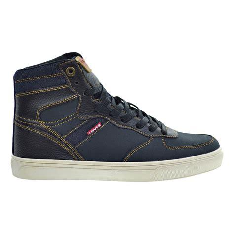 levi s jeffrey hi casual s shoes black indigo 516724