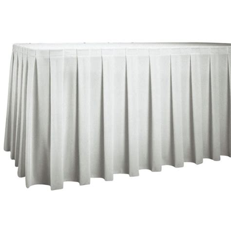 5 5m white box pleat table skirting