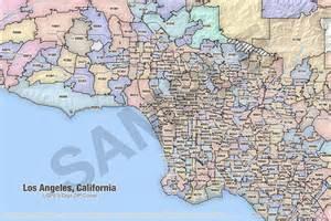 los angeles california zip code map los angeles map with zip codes