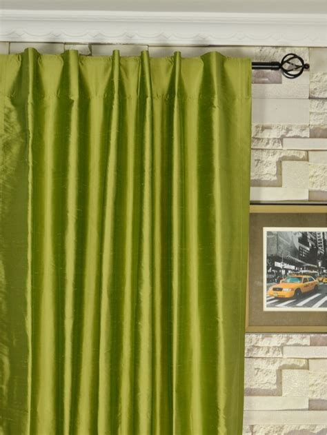 Green Silk Curtains Oasis Solid Green Dupioni Silk Custom Made Curtains