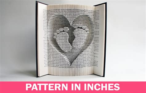 pattern language book free download book folding pattern in inches baby feet in heart book