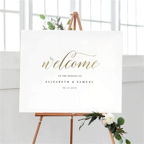 Welcome To Our Wedding Sign Template Printable Welcome Sign Welcome To The Wedding Of Template