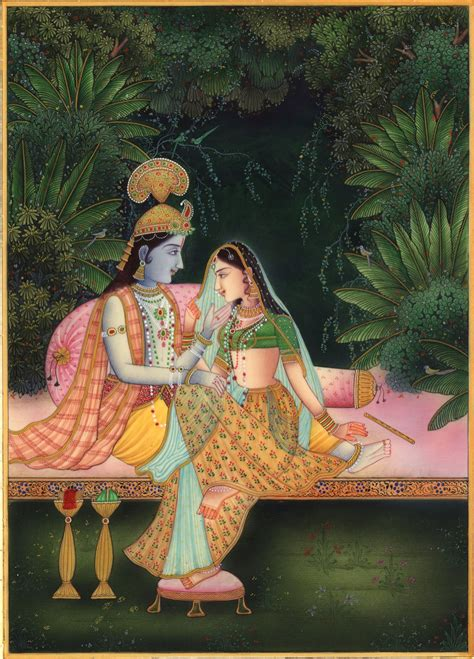 Handmade Paintings Of Radha Krishna - krishna radha ethnic decor handmade hindu religion