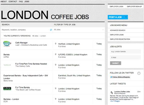 commercial model jobs london london coffee jobs board broke in london