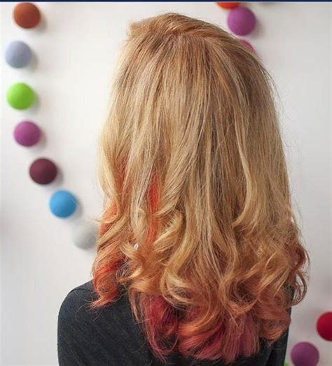 hairstyles blonde with red underneath blonde hair with red underneath pictures hair and tattoos