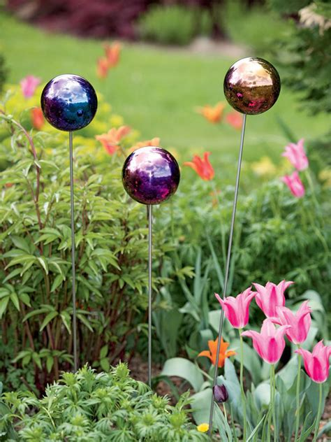 small gazing ball stake