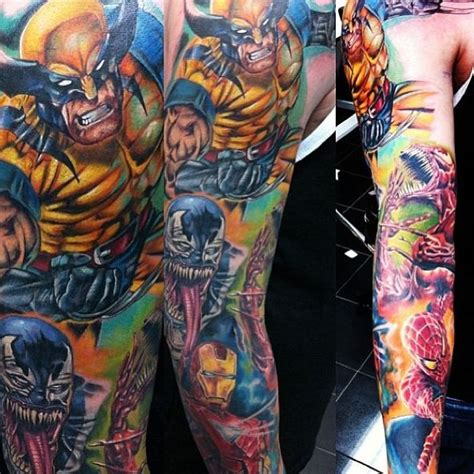 marvel tattoos marvel cool tattoos sleeve