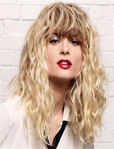 15 collection of long permed hairstyles with bangs