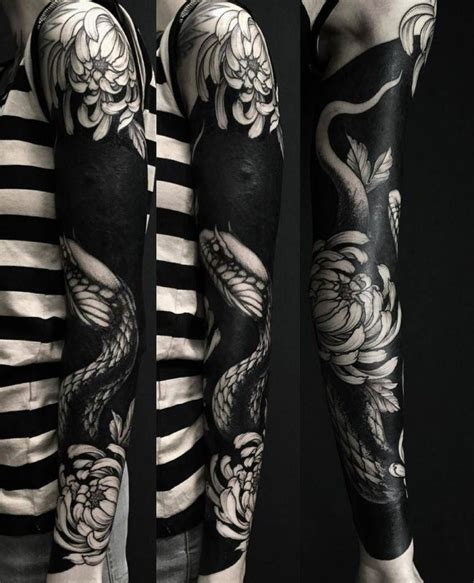 black work tattoos 80 delightful blackwork designs redefining the
