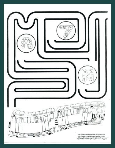printable train maze subway train coloring page and maze