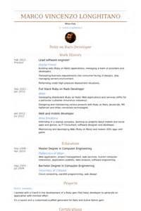 lead software engineer resume sles visualcv resume