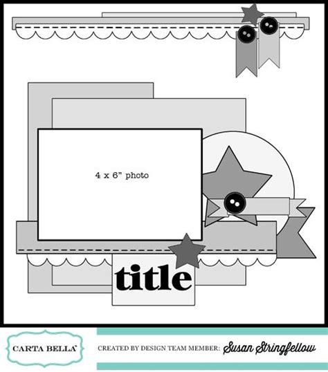 scrapbook layout sketches pinterest 69 best carta bella images on pinterest scrapbook