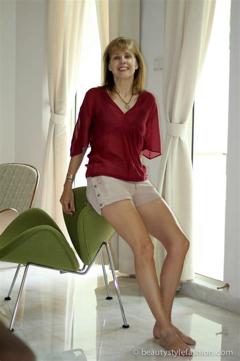 pictures of elderly women wearing shorts tastefully wearing shorts in and around the house stella mccarney