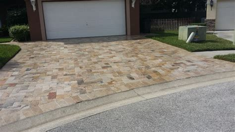 Travertine Paver Driveway Installation Tampa, FL Modern Patio tampa by Paver House