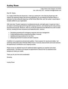 supervisor position cover letter best security supervisor cover letter exles livecareer