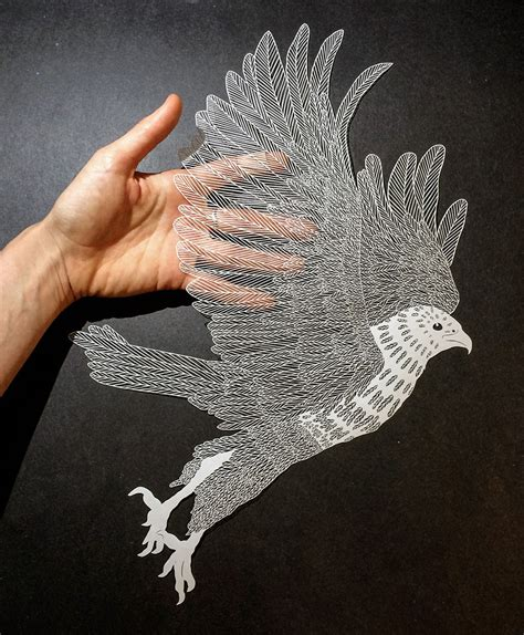 Craft Drawing Paper - incredibly detailed cut paper by maude white
